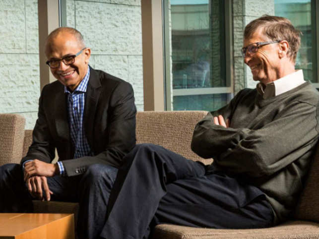 Under Nadella's leadership, Microsoft has been able to transition away from a purely Windows-centric approach, Gates writes.  (Image: Instagram)