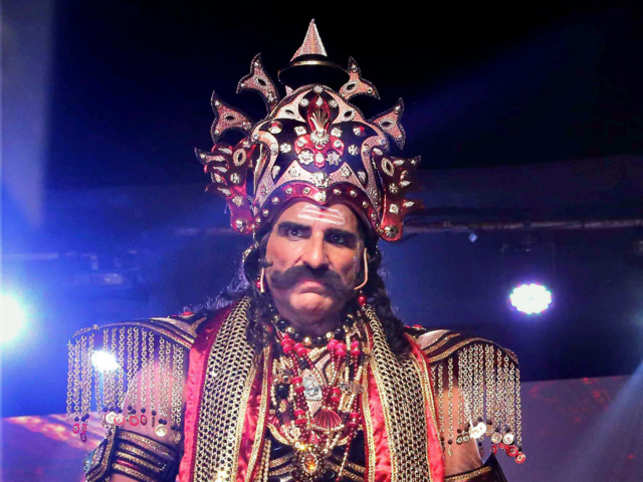 Mukesh Rishi is playing the role of Ravana in a Ramlila production being held at the Red Fort grounds.