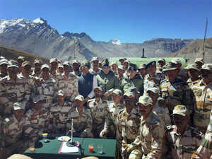 The home minister announced that facilities given to ITBP soldiers would soon be upgraded.