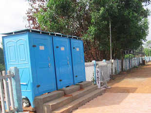The toilets were constructed between September 15 and October 2, an official statement said.