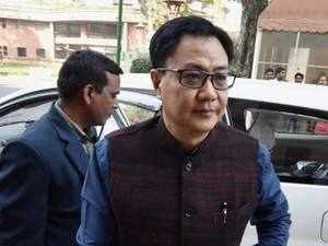 "Rijiju claimed had the Congress been at the Centre, President's rule would have been imposed in Kerala, but the the BJP was fighting the Left through ""democratic means"". (File photo)"