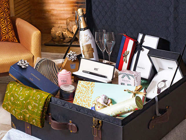 The luxurious 'A celebration of you' hamper by The Oberoi, Gurgaon.
