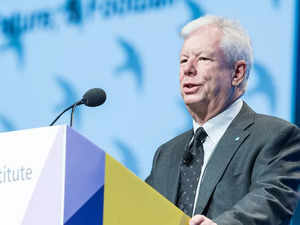 Economist Richard Thaler during the acknowledgment speech