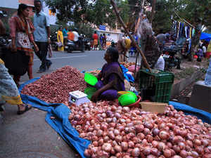 Around 8,000 quintals were auctioned at Lasalgaon on Monday. On Friday, about 21,000 quintals of onion was auctioned at Lasalgaon APMC.