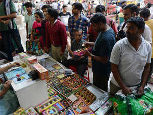 The ban on sale of firecrackers comes just days before the festival of Diwali.