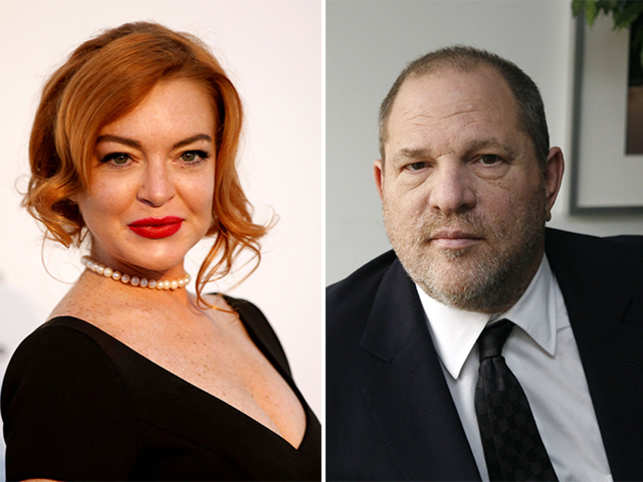 Lohan also called on Weinstein's wife Georgina Chapman to 'take a stand and be there for her husband'.