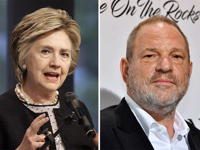 Clinton said she had no idea that Weinstein acted that way in private, despite some in Hollywood saying that people close to him had known.