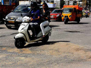 The filling up of potholes is a postmonsoon annual ritual with the BBMP .
