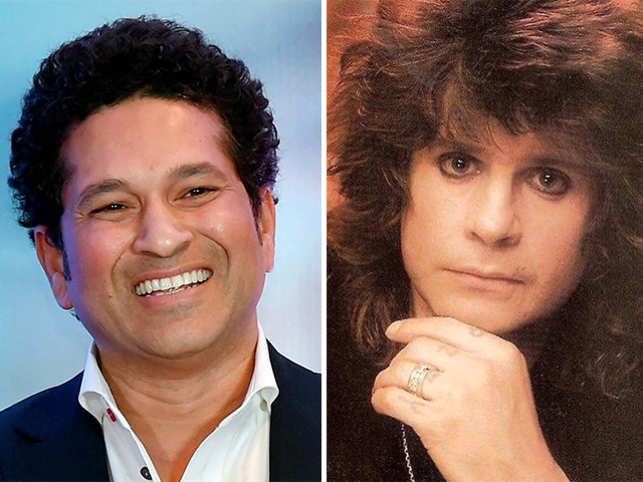 Ozzy Osbourne (right) and SachinTendulkar (right).