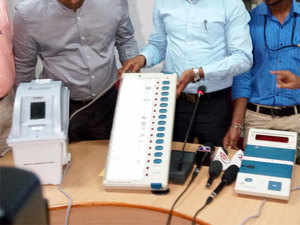 VVPAT is a machine which dispenses the slip with the symbol of the party for which a person has voted for. The slip drops in a box but the voter cannot take it home.