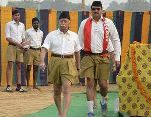 """A leader, while explaining a game called 'kila kiska hai' (whose fort is it) played almost daily in an RSS shakha, said: """"It involves a lot of jostling and pushing which might not work well in a mixed shakha."""""""