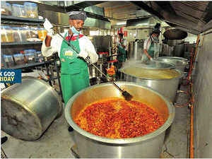 Each kitchen has a nodal officer appointed by the BBMP, who weighs the food before it is dispatched from the kitchen and when it arrives at the canteen.