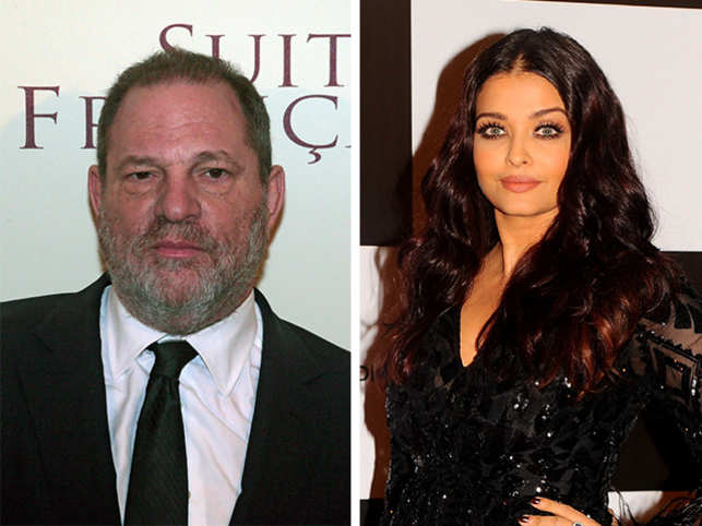 Harvey Weinstein (left) and Aishwarya Rai Bachchan (right).