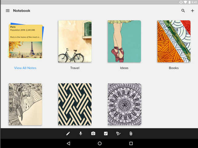 Zoho Notebook' app lets you store card style notes - The