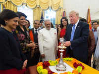 Donald Trump celebrates Diwali at White House