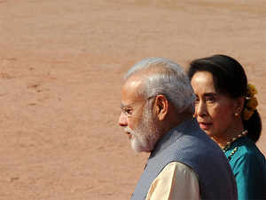 It is not clear when Modi made the comments, however, Bangladeshi media reports claimed he said this last month when he met Suu Kyi during his first bilateral visit to Myanmar.