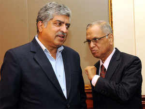 When Nilekani returned to the firm he helped co-found and met reporters on 25 August, the Murthy Meter rang thrice.