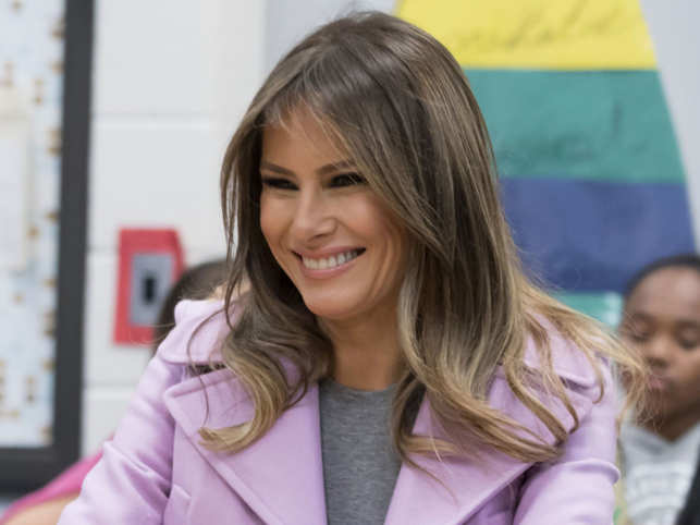 Melania Trump Melania Trump Visits A School Gives
