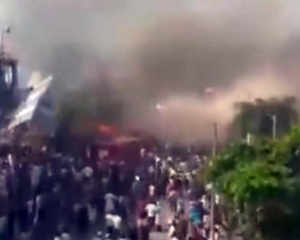 Watch: Fire breaks out near Mumbai's Bandra station