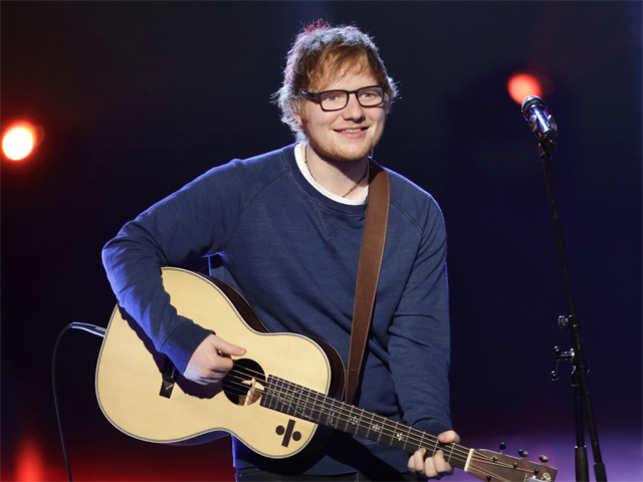 British singer Ed Sheeran performs during the Italian State RAI TV program 'Che Tempo che Fa', in Milan, Italy.