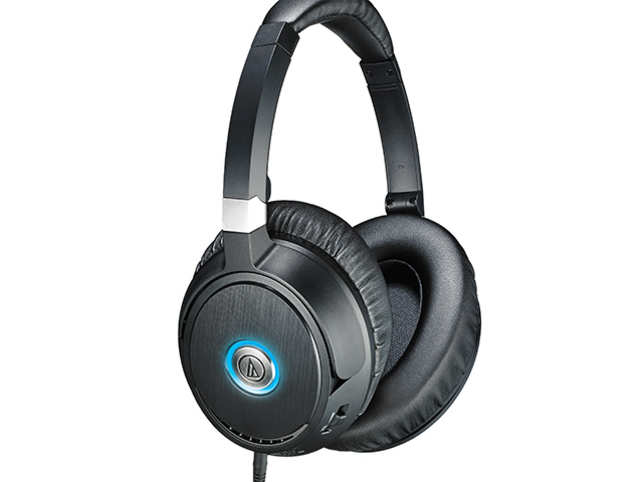 Audio-Technica's headphones have effective noise cancelling powered by a single AAA battery (each one should last about 40 hours).  (Image: audio-technica.com)