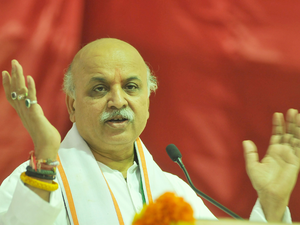Togadia will preside over a national-level meeting of the prominent members of the 'Hindu Helpline', the leader said on the condition of anonymity.