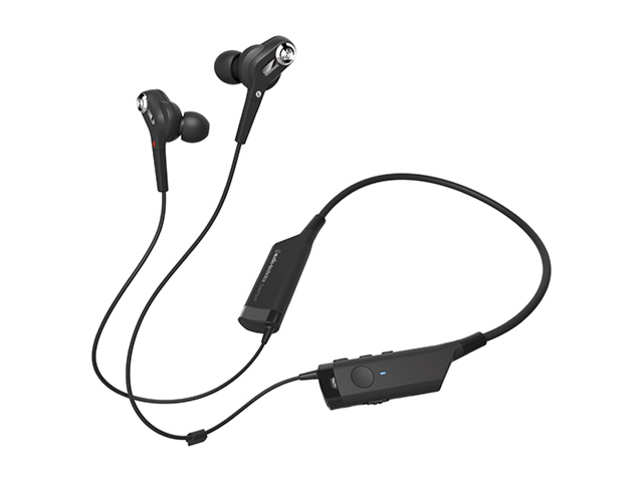 Battery life depends on volume plus whether you use Bluetooth, ANC or both. You should get about 7 to 8 hours of music and calls when using Bluetooth and ANC.  (Image: audio-technica.com)