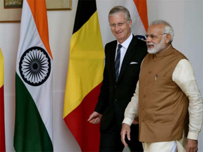 Image result for Narendra Modi, Belgian king hold talks on strengthening ties, P
