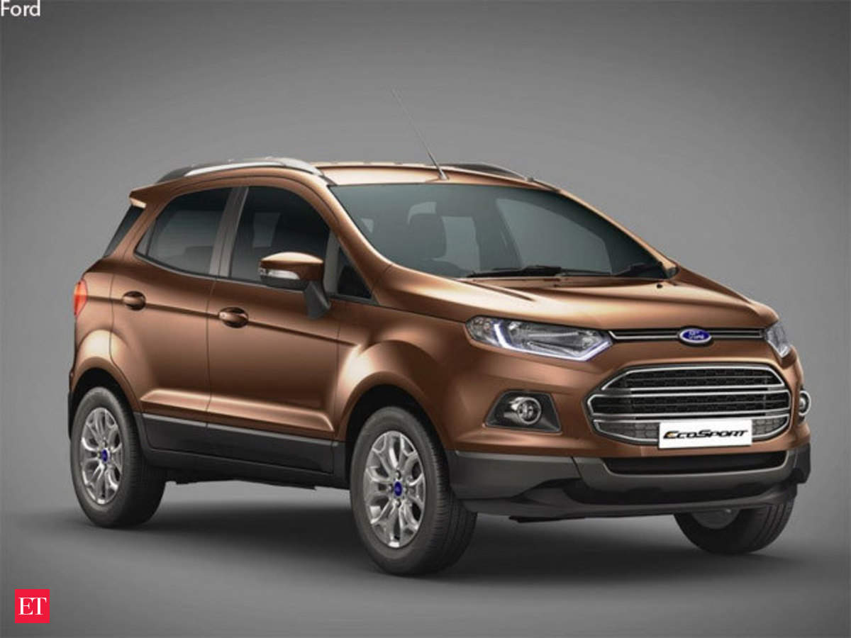 Ford launches new ecosport priced between rs 7 31 10 99 lakh the economic times