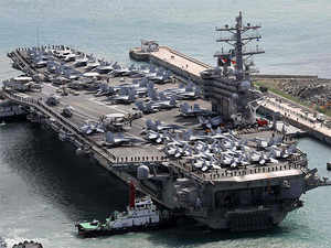 South Korea to join three US aircraft carriers in drills - The