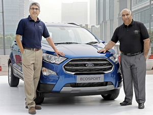 The new version of the EcoSport is available in both petrol and diesel engine options.