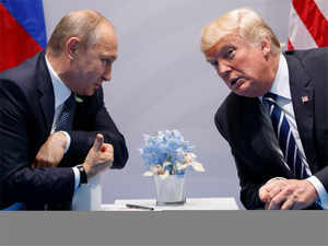 """On Sunday the US president said """"it's expected we'll meet with Putin"""" to discuss North Korea's nuclear ambitions."""