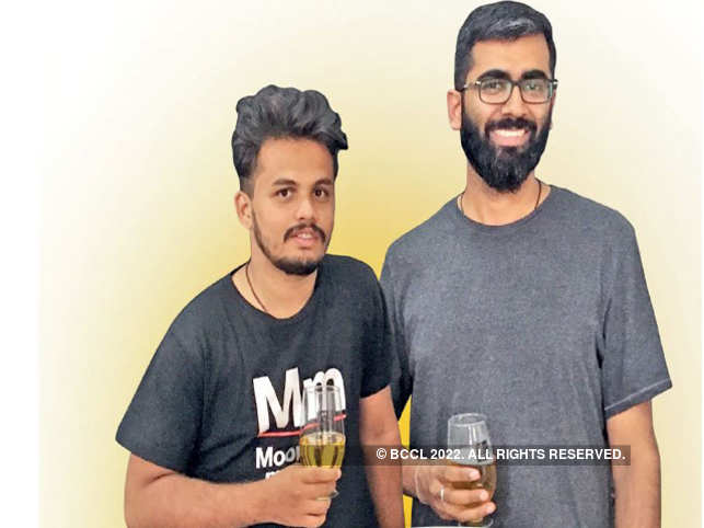 Rohan Rehani (R), cofounder, Moonshine Meadery with Aditya Khot, a graduate in winemaking and brewing.