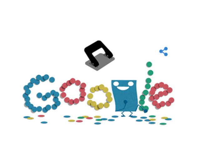 Google Doodle pays tribute to hole puncher on its 131st anniversary