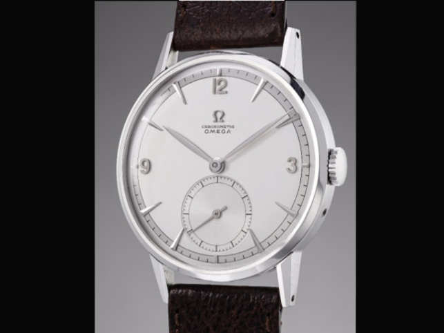 The Omega was a prototype with a tourbillon that Phillips had estimated was worth as much as $207,000.   (Image: Twitter)