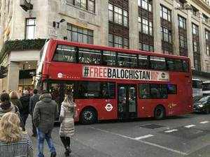 This is a peaceful advertising campaign. Pakistan's aggressive reaction is a bare-faced attempt to intimidate the UK government and Baloch human rights defenders.