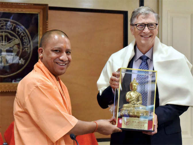Bill Gates meets Yogi Adityanath, discusses ways to intensify JE vaccination programmes