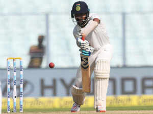 Pujara had come in to bat on day one after opener Rahul was dismissed in the first ball and went on hit a gritty 52 under testing conditions.