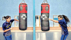 """""""Earlier I used to think of becoming a doctor, but after my cousin who is related to Vijender Singh told me to take up boxing, I have been enjoying every moment of this,"""" a visibly perky Sakshi says."""