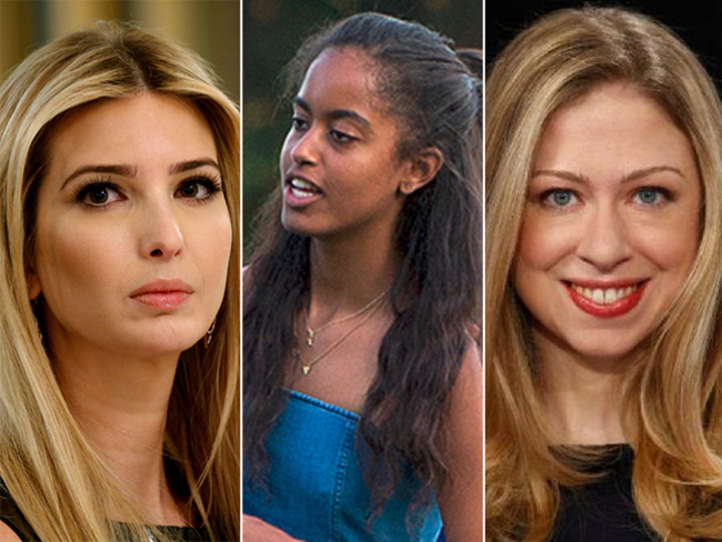 First Daughters Club To The Rescue Ivanka Chelsea Defend Malia Obama The Economic Times