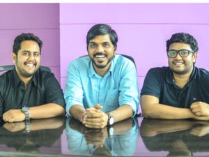 Swiggy co-founders Rahul Jaimini with Nandan Reddy (Left) and Sriharsha Majety (Right).