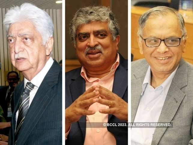In Pic: Azim Premji, Nandan Nilekani and NR Narayana Murthy