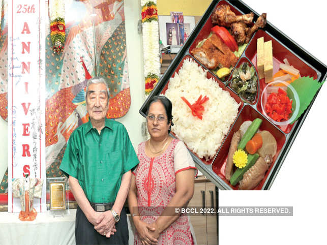 IN PIC: N Yamauchi, founder of Dahlia, came to India around 33 years ago to find sources to supply Japan's ever-hungry appetite for fish( Gentleman in Green Shirt). Revathi Nagaswami is the Japanese-speaking part-owner of Dahlia.