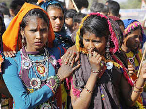 Most tribals in the area have to go to neighbouring Maharashtra or to Dharampur further up north in Gujarat in search of employment as labourers in fields.
