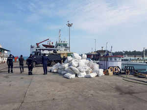 Dry provisions and ready to eat meals are also being dispatched to Bitra Island by chopper from the INS Dweeprakshak (base) at Kavaratti.