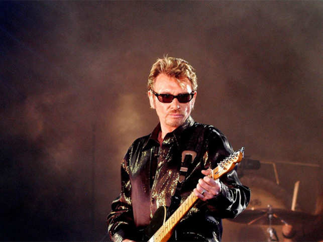 25 2003 shows French singer Johnny Hallyday performing in Saint-Denis-de-la-Réunion France's best-known rock star Johnny Hallyday has died aged 74 after a battle with lung cancer