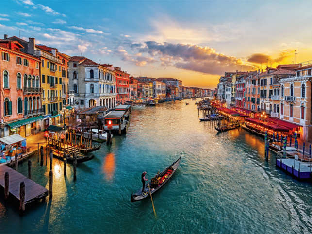 VIEW POINT: Venice is best enjoyed on a sunset gondola tour, which takes to closer to the Venetian way of life as the day winds up (©GettyImages)