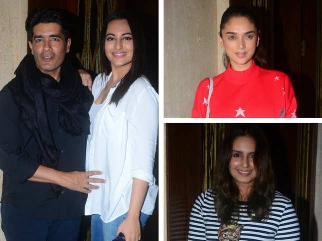 Fashion designer Manish Malhotra celebrated his birthday on December 5 with a party for his film industry friends.  Here's a look at the pictures from celebration...