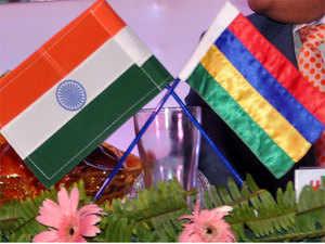 India-Mauritius-flags