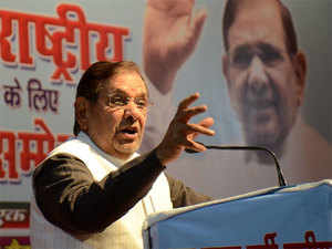 "Sharad Yadav refrained from attacking Rajya Sabha Chairman M. Venkaiah Naidu for his disqualification and called him an ""old friend""."